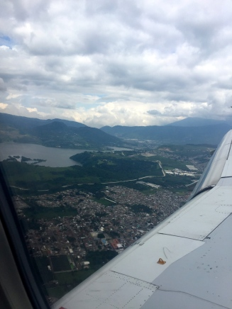 Flying into Guate