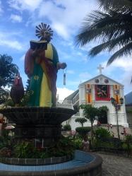 Iglesia and statue of San Pedro