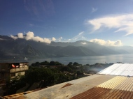 View of Lago Atítlan from my room with my host family in San Pedro...not too shabby =)