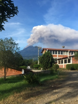 Volcano Fuego eruption. Not your usual morning run backdrop!!