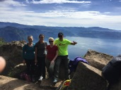 The volcano hiking crew - me, Maggie, Emily (another SP language school student in our host family), and Marcos