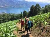 Hermanas hiking the volcano :)